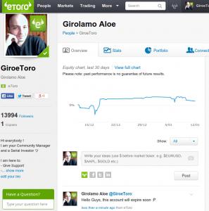 GiroeToro Profile - The Last Screenshot - eToro Career