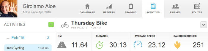 150205 - Average Speed 23.1 Km/h, my New Personal Record Cycling