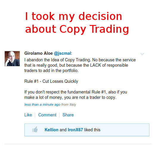 I took my decision about Copy Trading