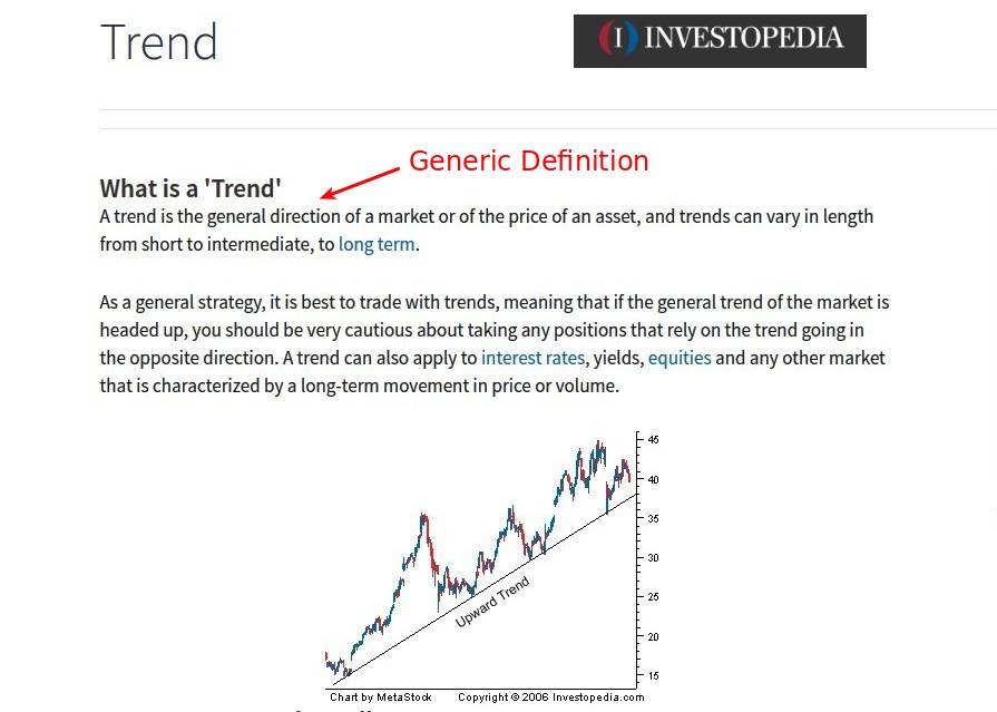 Tricks to learn Currency Trading - Investopedia Generic Definition of Trend