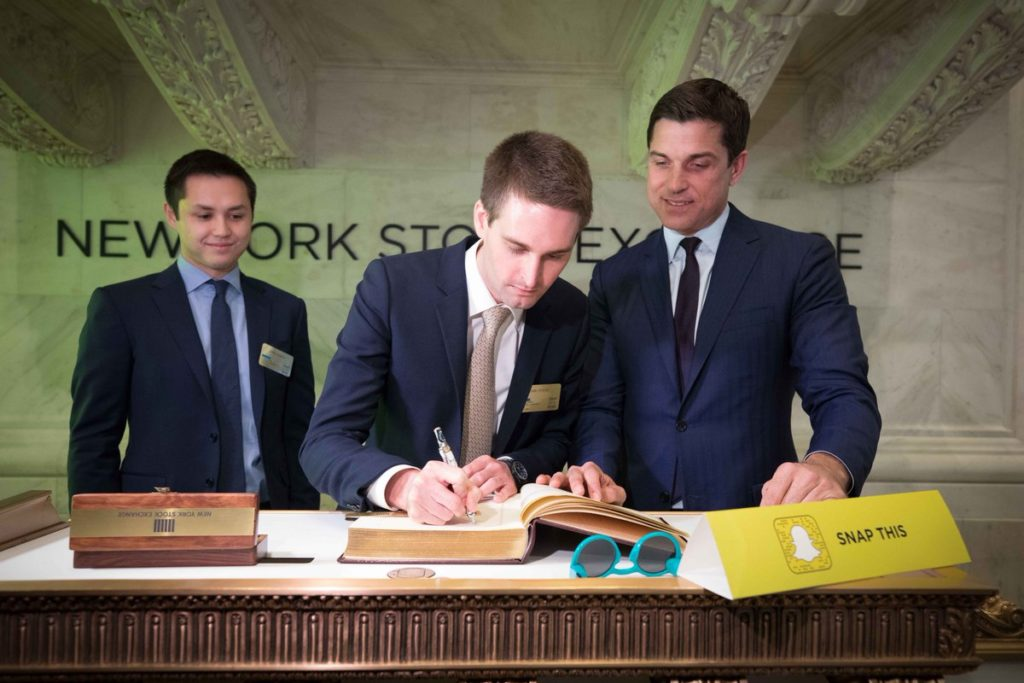 Upcoming IPO in Share Market - SNAP - Signing the NYSE Special Guests Book